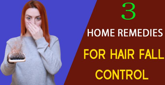 Control Hair Fall At Home